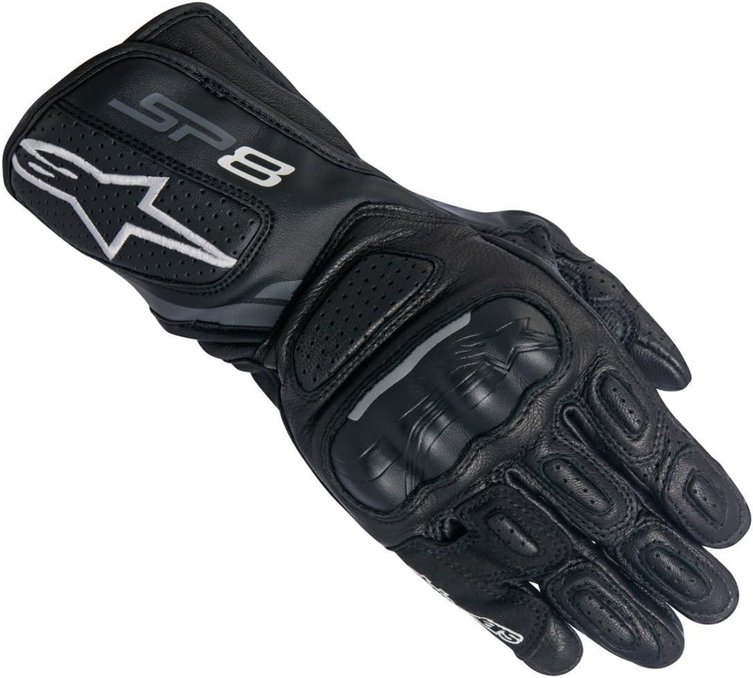 S Alpinestars 1694380102 Motorrad Handschuhe Schwarz//Weiss