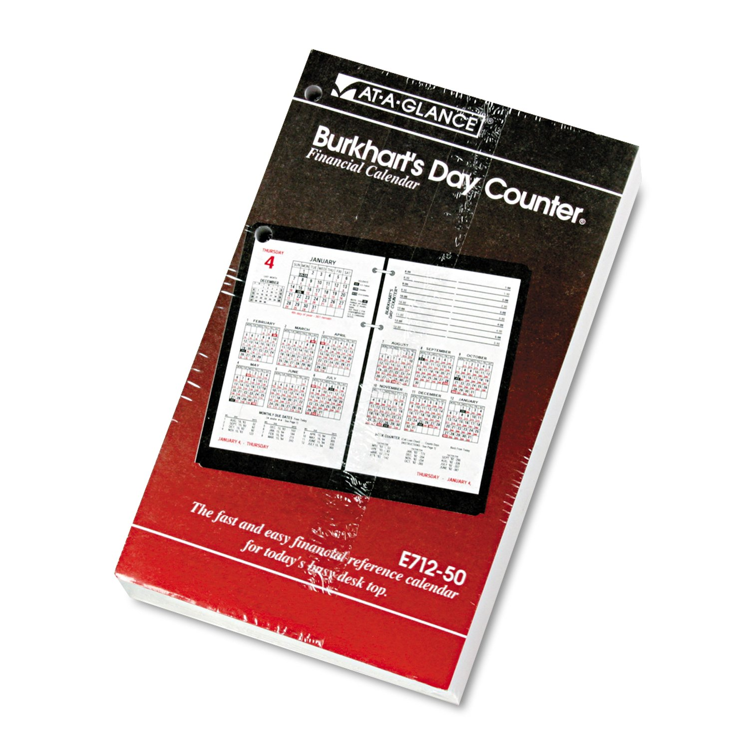 Amazon.com : AAGE71250 - At-a-Glance Burkhart's Day Counter ...