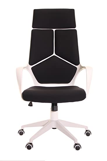 white frame office chair. timeoffice ergonomic office chair with armrest and matt white color frame u2013 black