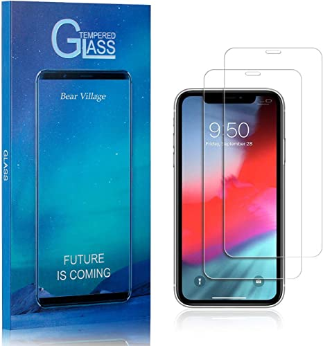 2 Pack Screen Protector for iPhone XR FCLTech Ultra thin Transparent Tempered Glass Suitable for iPhone XR Anti Fingerprint Scratch Resistant