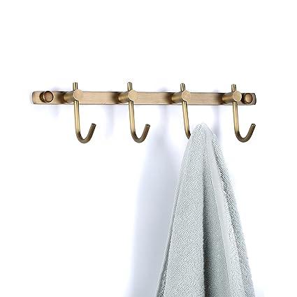 weare casa puerta montado en la pared clásico 6-Hook Robe Toalla de baño cocina