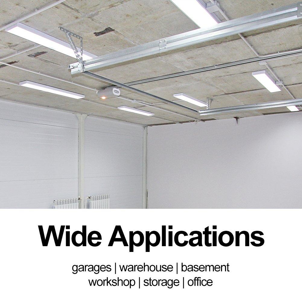 Linkable 4000LM 40W 4FT LED Shop Lights for garage 5000K Led Wraparound Flushmount Ceiling Light Fixture for Basement Workshop Office (4 Pack) by juweixin (Image #6)