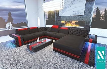 NATIVO© stoffsofa Imperial XXL mit LED Beleuchtung Sofa ...