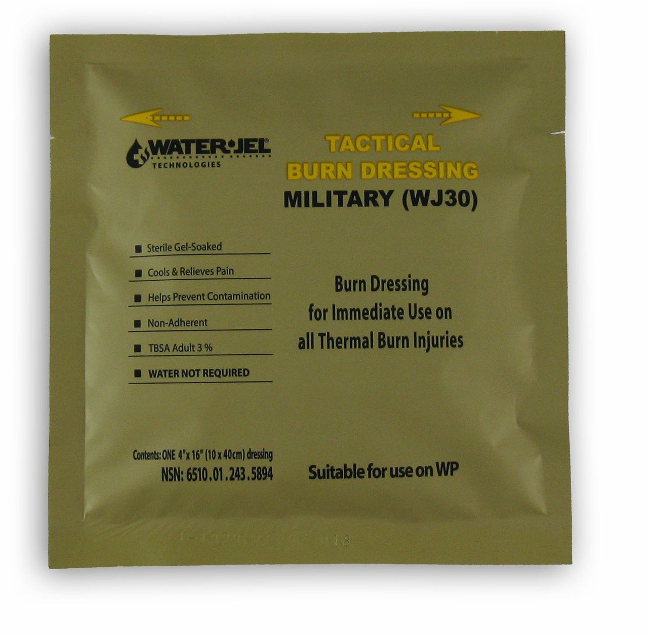 Water-Jel Military Burn Dressing 4'' X 16''