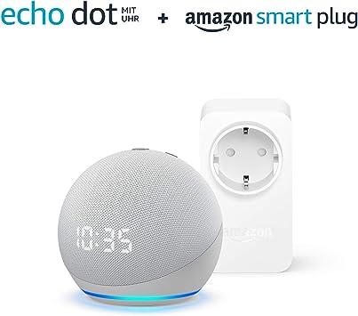 Der Neue Echo Dot 4 Generation Mit Uhr Weiß Amazon Smart Plug Wlan Steckdose Funktionert Mit Alexa Alle Produkte