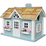 Home Bazaar Hand-made Nantucket Cottage Blue Bird House - Bird Friendly - Home Decor