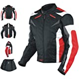 A-Pro Giacca Motorcycle Ce Armored Textile Motor Bike Racing Thermal Liner Rosso L