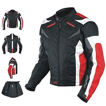 A-pro chaqueta de motociclismo CE Armored Textile Motorbike Racing Thermal Liner rojo L: Amazon.es: Coche y moto