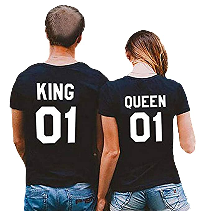989505ebc7 CHANGXIN Men's T-Shirts Casual Tank Tops King & Queen Matching Couple's  Clothes (XXL