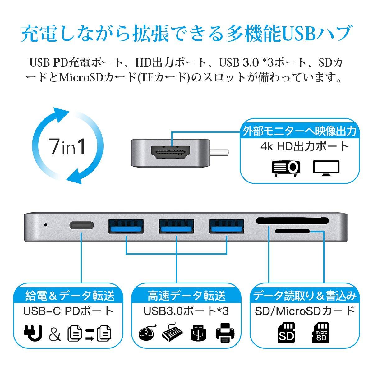 Amazon.co.jp: USB Cハブ USB C...