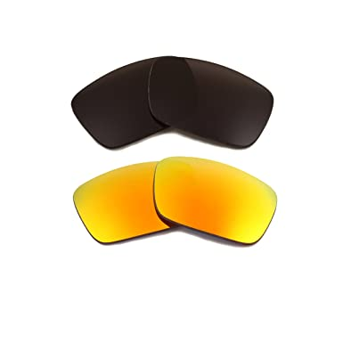 0cd64eadc3f Best SEEK Polarized Replacement Lenses for Oakley FUEL CELL Black Yellow  Mirror