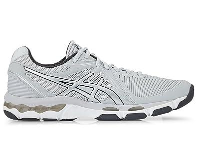 a165b503bdd Image Unavailable. ASICS Women s Gel Netburner Ballistic Shoe Glacier Grey  Silver Dark Grey