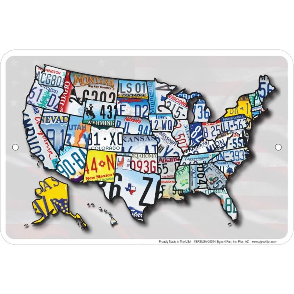 Signs 4 Fun Spsusa USA LP Map Small Parking Sign