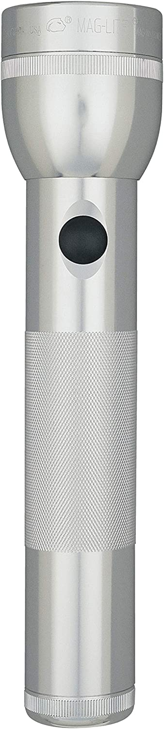 Maglite LED 2-Cell D Flashlight in Display Box Silver