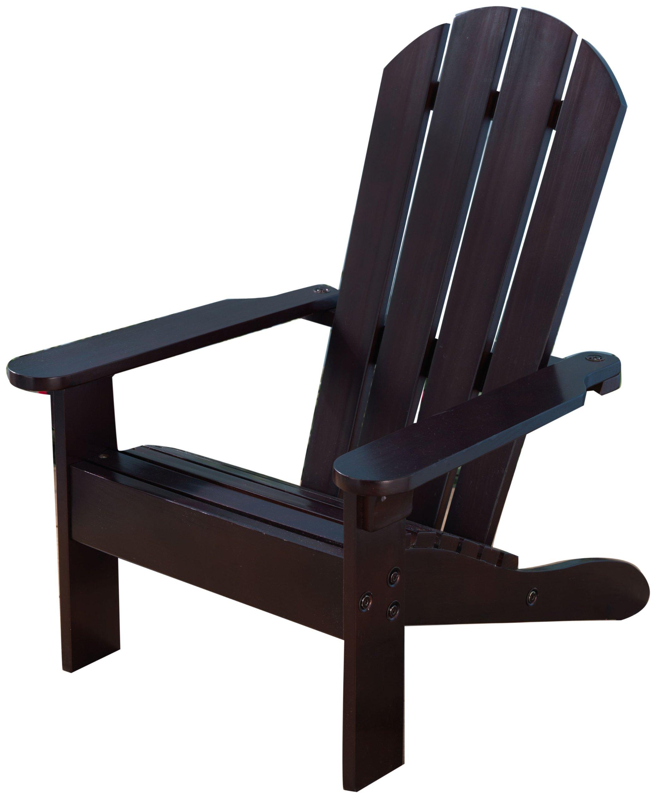 KidKraft Wooden Adirondack Children's Outdoor Chair, Weather-Resistant - Espresso