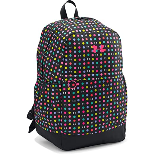 da3ad389f69 Amazon.com: Under Armour Girls' Favorite Backpack, Black (003)/Harmony Red,  One Size: Clothing