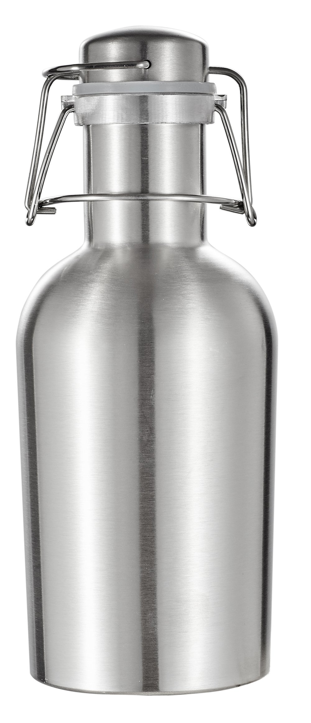 Visol Products Visol Cassis Stainless Steel 32 oz Beer Growler, Silver