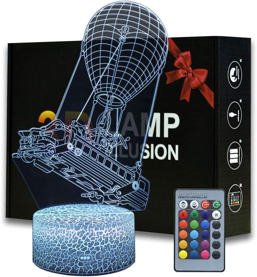 Lámpara de mesa con mando a distancia, diseño de batalla de la batalla de la realeza de la batalla con control remoto para decoración de dormitorio, lámpara de escritorio creativa para cumpleaños