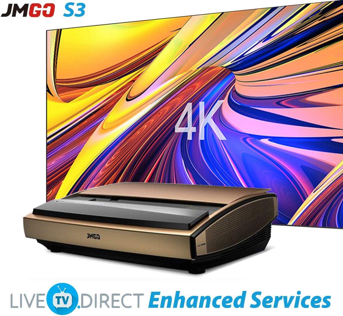 4K Projector, LiveTV.Direct Enhanced JmGO S3 Ultra Short Focus ...