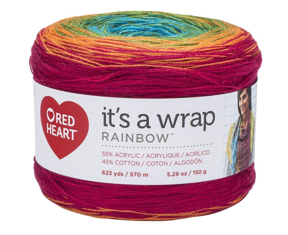 Red Heart E862.9347 Its A Wrap Rainbow Yarn Whisper