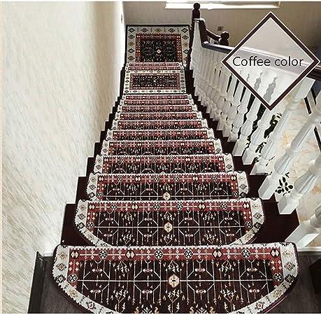 MMD Alfombrilla de Escalera Alfombrilla autoadhesiva Antideslizante Alfombra de hogar Simple Juego de 15 Piezas (Color : Coffee Color, Size : 75cm): Amazon.es: Hogar