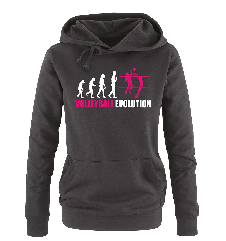 Taille S-XL Divers Couleurs Volley-Ball /évolution Comedy Shirts Femmes Capuche