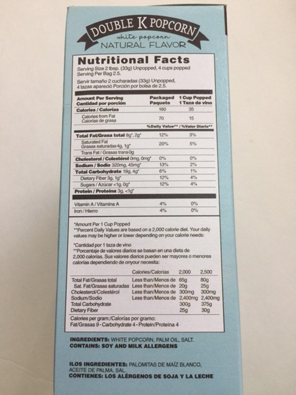 Amazon.com: Double K Popcorn Natural Gluten Free White ...