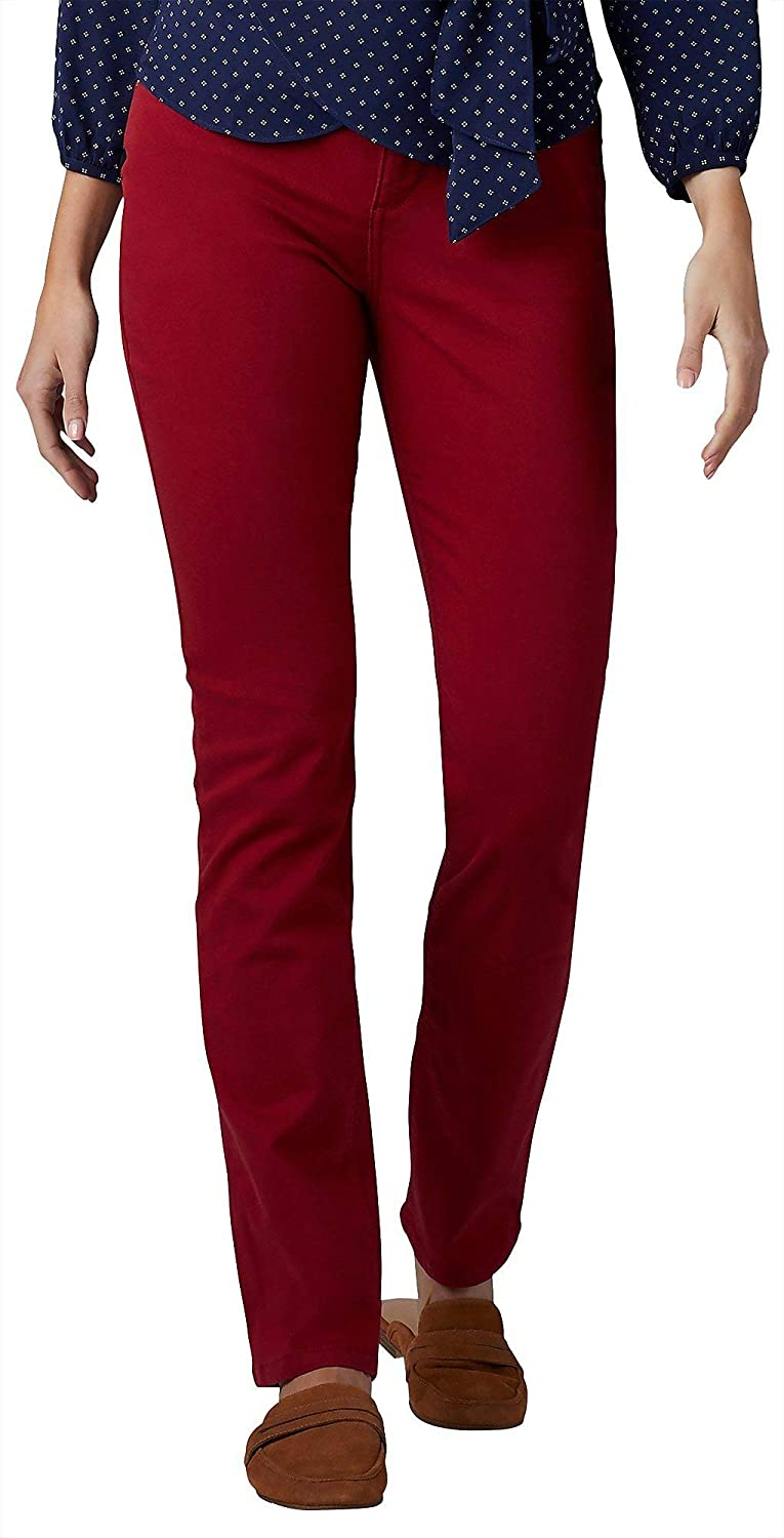 LEE Womens Secretly Shapes Regular Fit Straight Leg Jean (Red ...