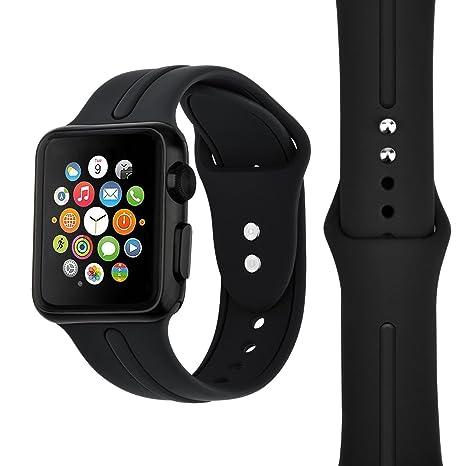 Reloj de pulsera de silicona para Apple Watch Reloj de pulsera de silicona KZKR Band 38mm