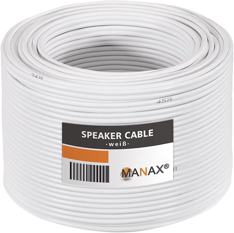 MANAX 20 m speaker cable 2 x 2,50 mm/² transparent