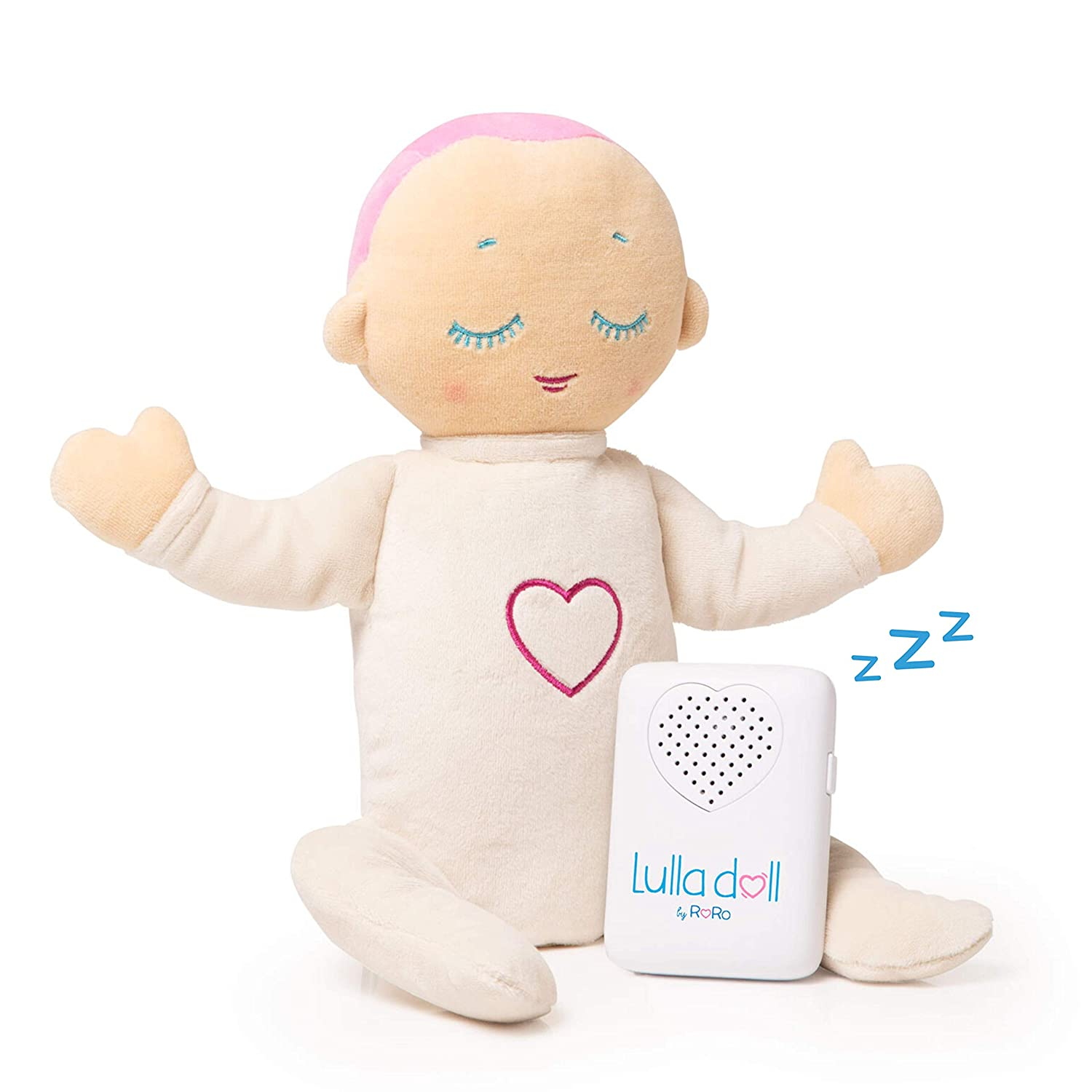 Lulla Doll—Baby Miracle Sleep Aid Soother, Heartbeat Sound Machine—Lulla Coral