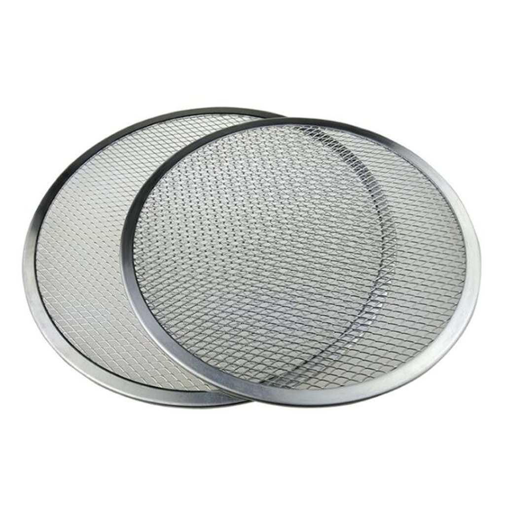 MagiDeal 2pcs Round Seamless Aluminum Pizza Screen Mesh Oven Baking Tray Plate 16inch