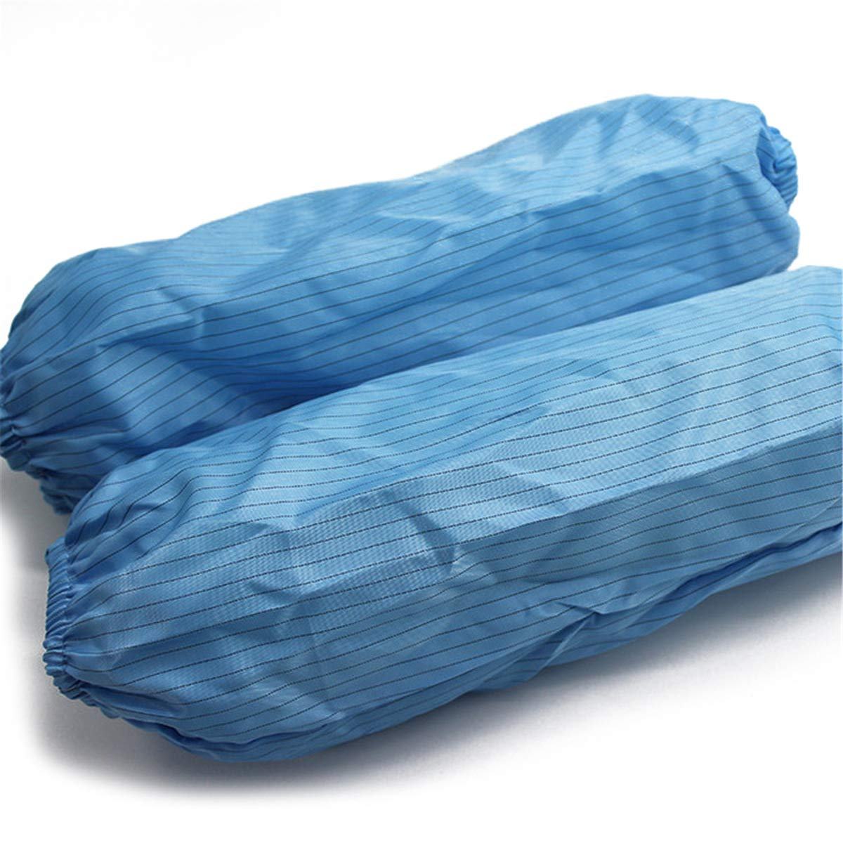 Queenbox A Pair Stripe Anti-static Terylene Sleeve Cover Sleevelet,Blue