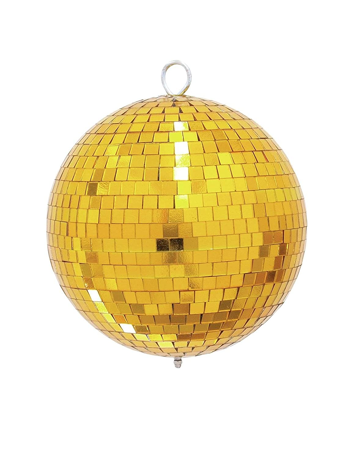 Disco Ball GOLDIE with Genuine Glass Facets, Ø 20cm, gold - Glitterball/For Ballroom - showking Ø 20cm 14874