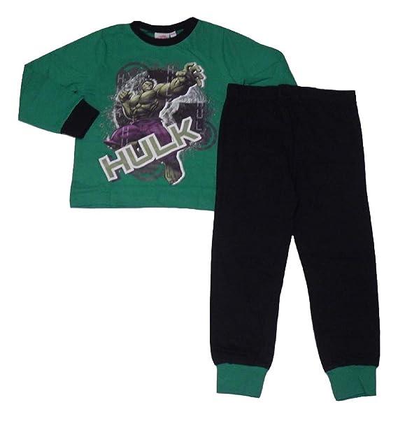 Incredible Hulk Marvel Avengers - Pijama dos piezas - para niño verde verde