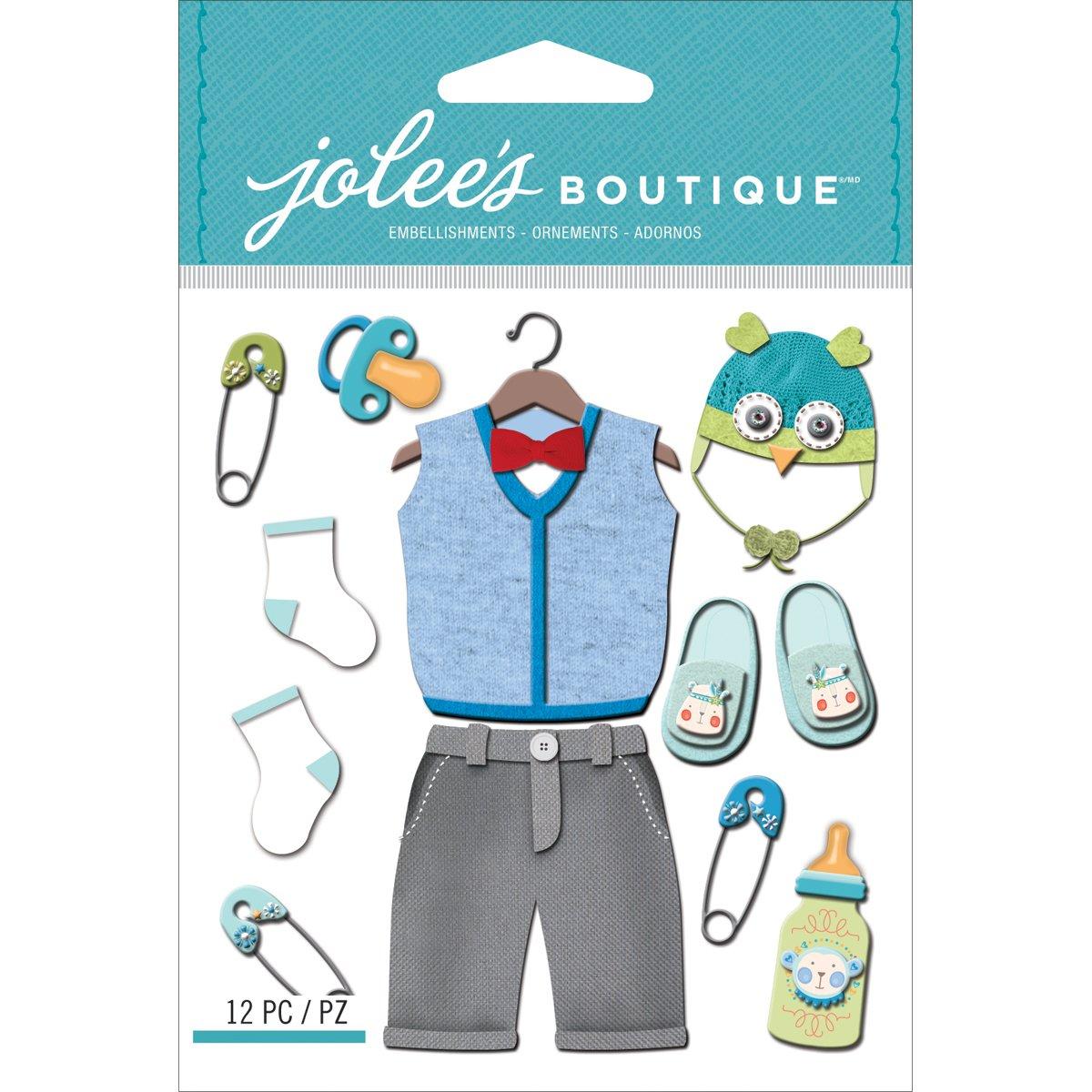 Jolee のブティックの次元ステッカー赤ちゃん男の子服 B00HSH3Z9G