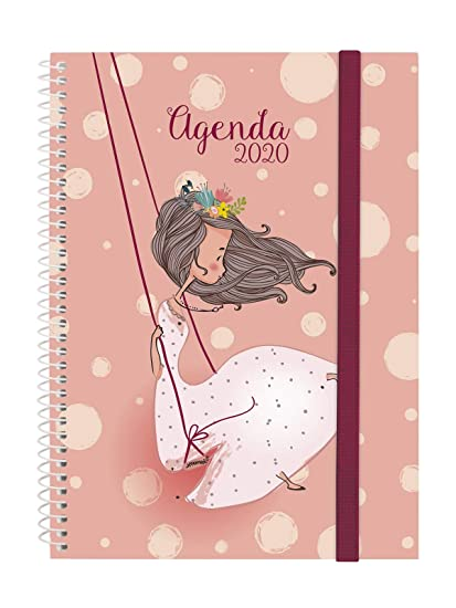 Finocam - Agenda 2020 semana vista apaisada Espiral Design Collection Romantic español