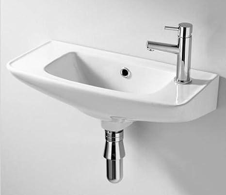 Lavabo pequeño para cuarto de baño color blanco, para colgar en ...