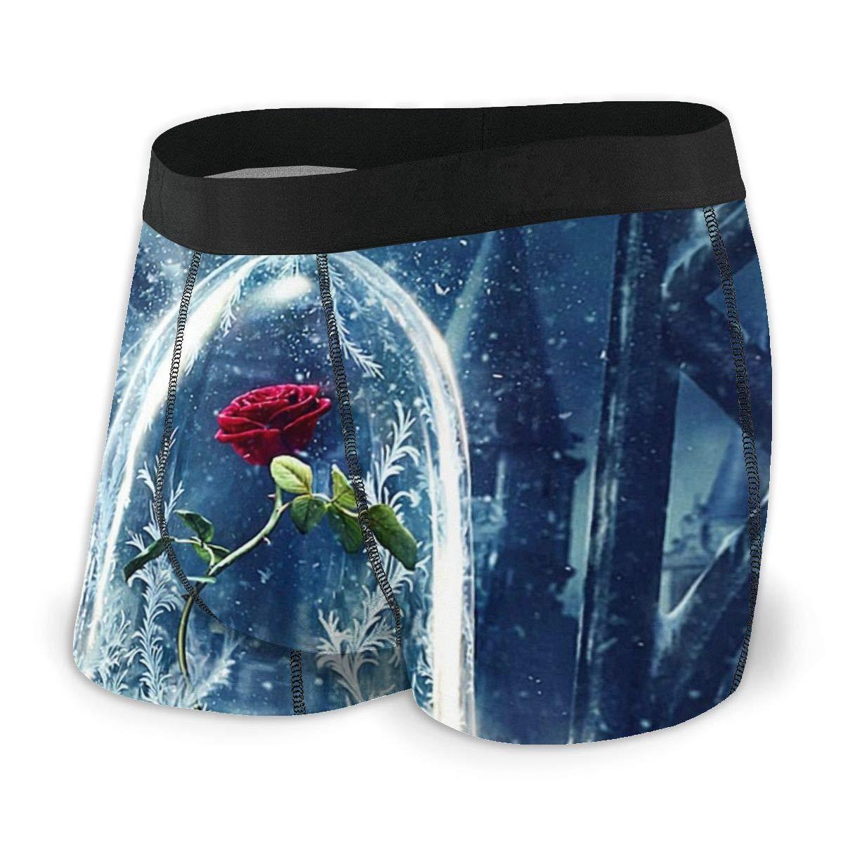 Beauty The Beast Rose Qingchun Mens Comfort Soft Boxer Briefs