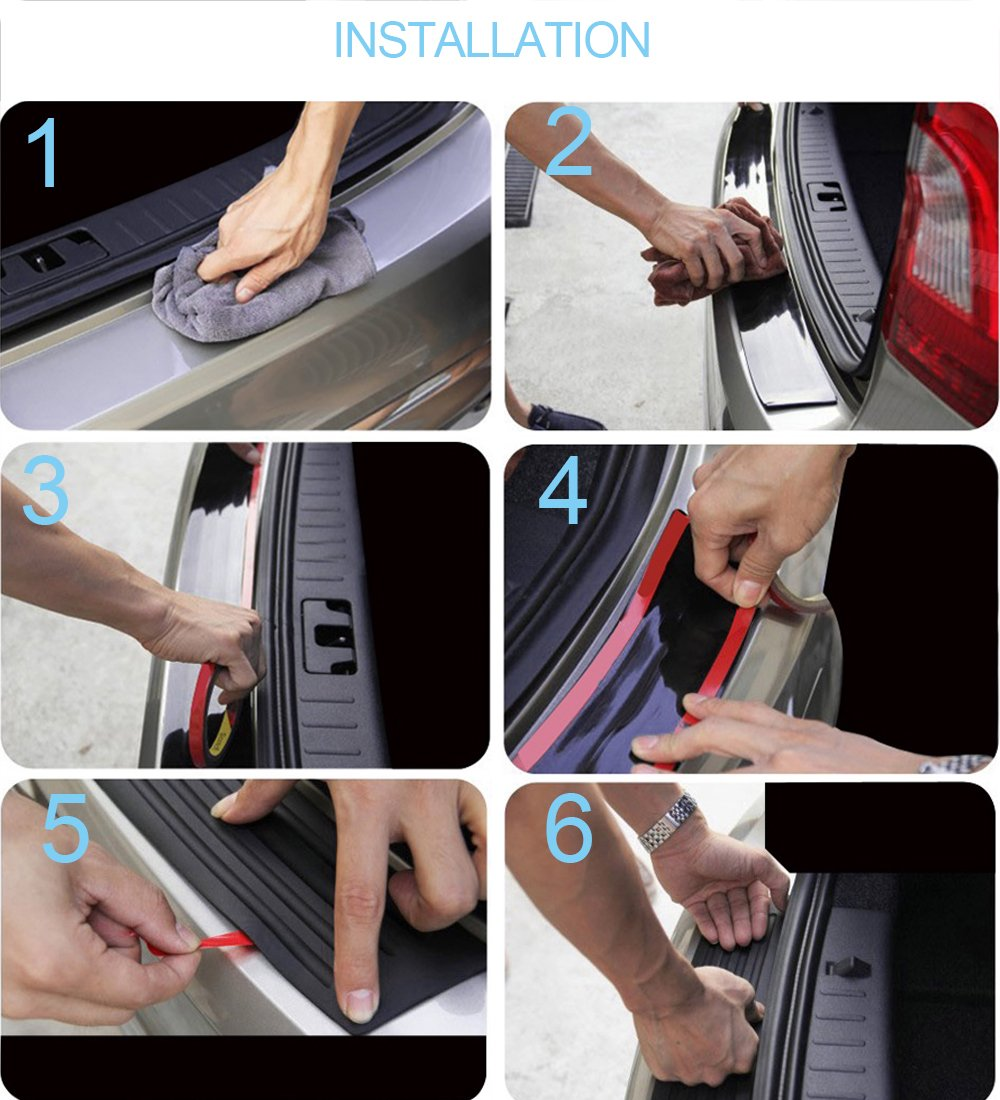 5cm*3m AUVSTAR Car Door Sill Protector,Car Door Edge Protective Strips Bumper Protector Carbon Fiber Front Bumper Spoiler Bendable Door Sill Scuff Bumper with Strong Adhesive for Any Car SUV Truck