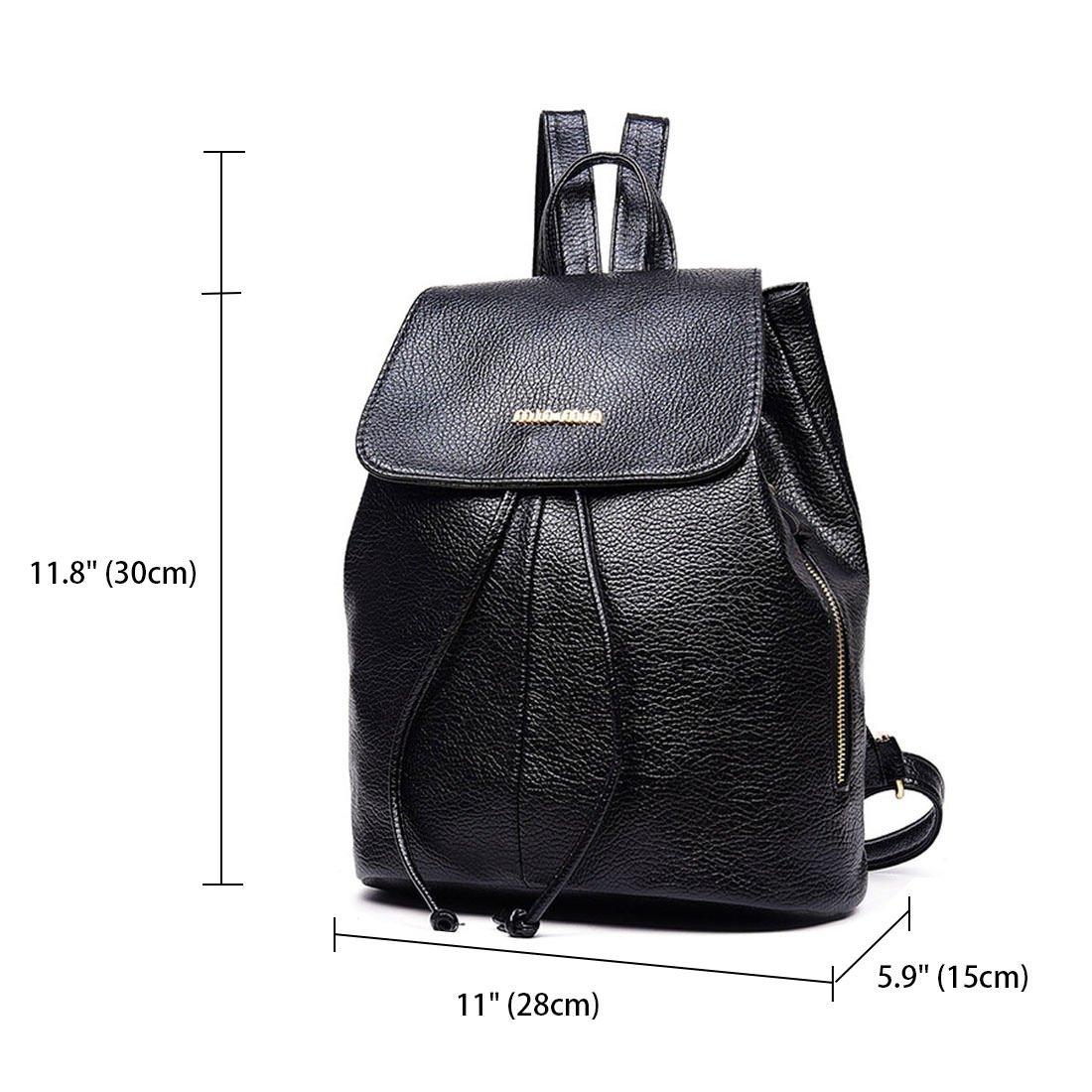 3df57a8d1b Amazon.com  Women Fashion Backpacks Totes Handbags Shoulder Bags Top-Handle  School Laptop Daypack PU Leather Black  Shoes