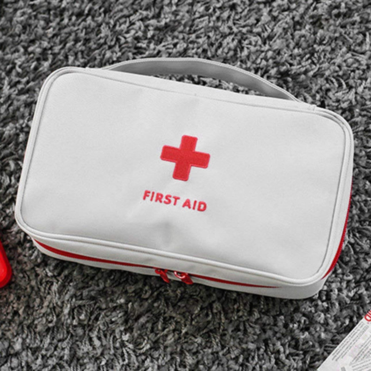 Celerhuak Kit de primeros auxilios al aire libre Bolsa Kit de emergencia m/édica Bolsa de supervivencia Bolso Bolso de almacenamiento de medicina de viaje Peque/ño organizador con mango