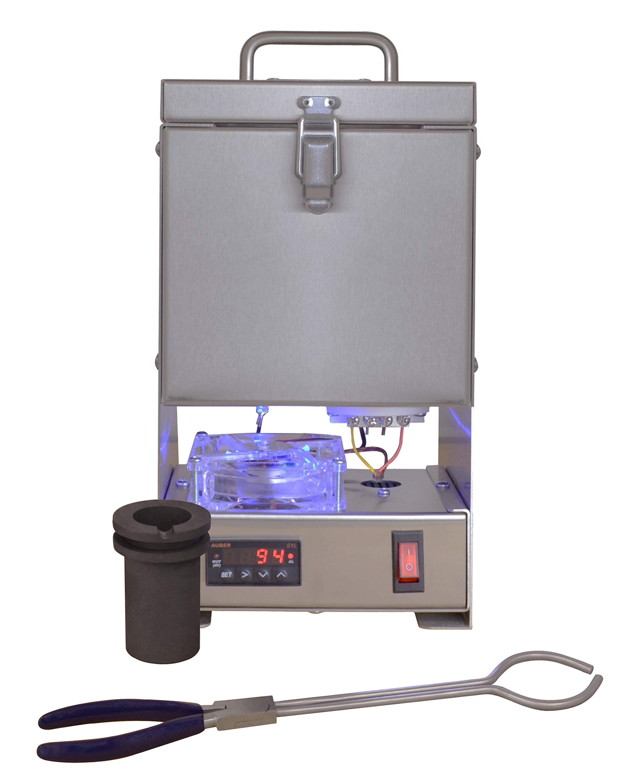 Quikmelt Pro-30oz Electric Kiln with Digital Temperature Controller. Perfect for Metal Casting & Refining, Melting Gold, Silver, Copper, More... by Tabletop Furnace Company