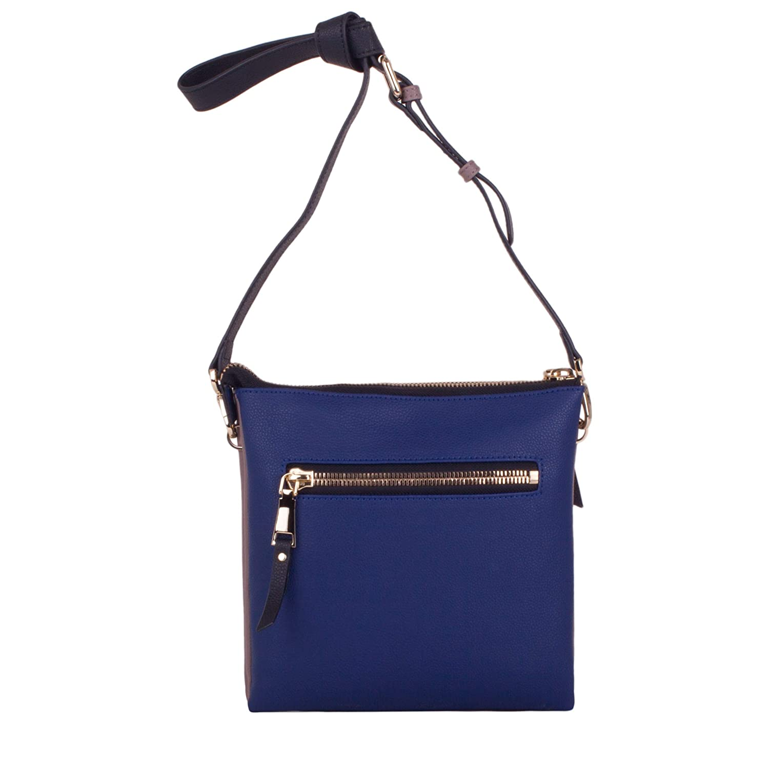 Smith   Canova Womens Zip Top Front Pocketed Cross Body Bag Shoulder Bag  Blue (Navy)  Amazon.co.uk  Shoes   Bags f9ddf9d5e9b23