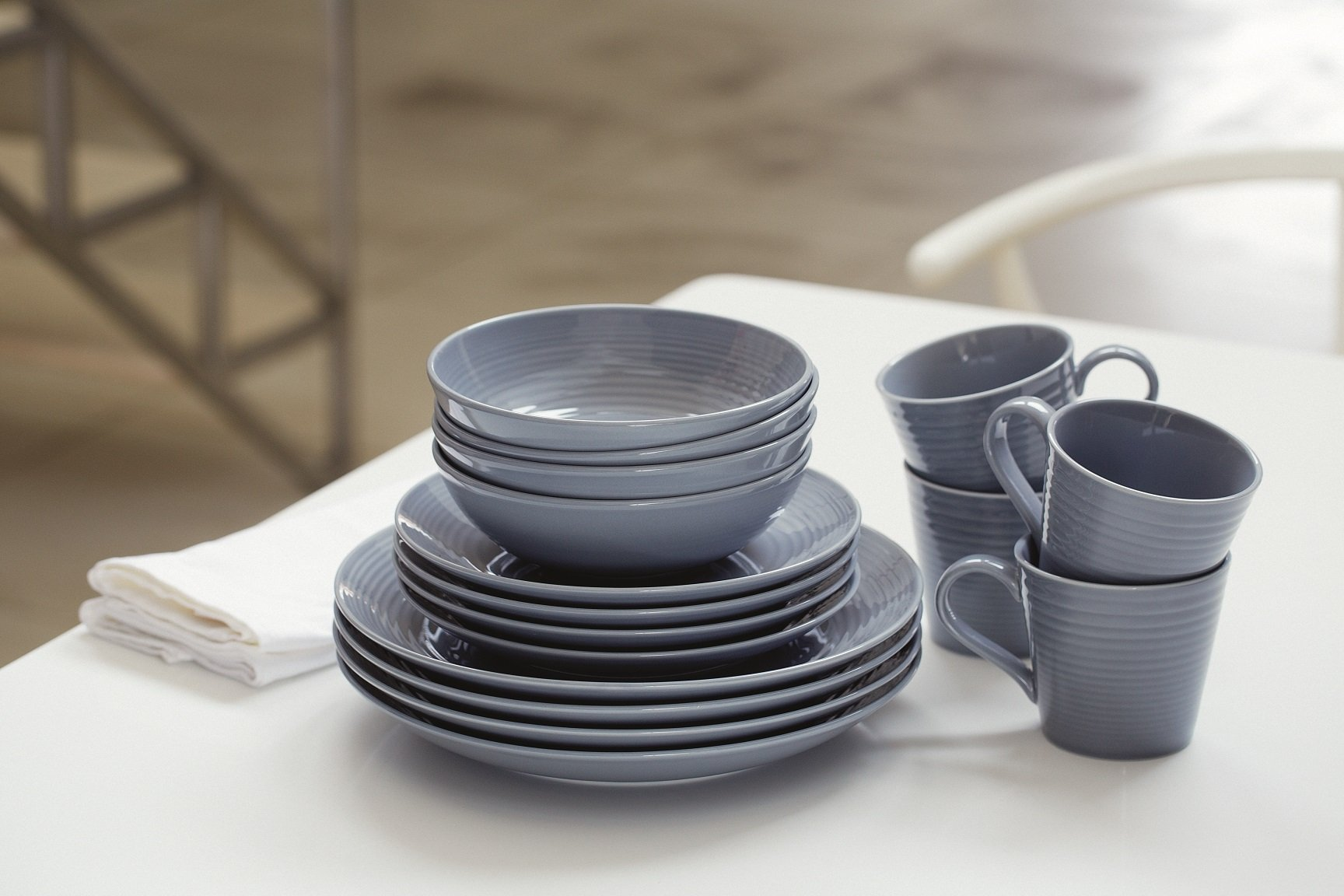 Royal Doulton 40003015 Gordon Ramsay Maze 16-Piece Dinner Set, Grey - Dishwasher Safe Material: Stoneware Maze by Gordon Ramsay - kitchen-tabletop, kitchen-dining-room, dinnerware-sets - 71CUhLgJRHL -