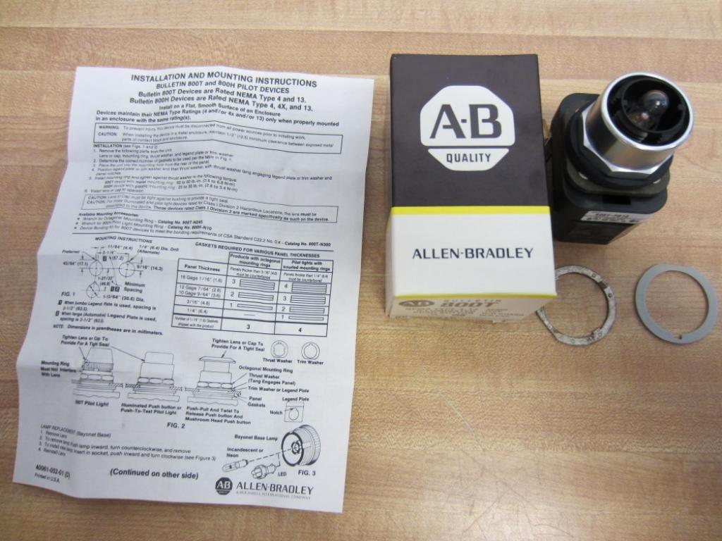 Allen Bradley 800t Pb16 Illuminated Push Button Series T Electrical Wiring Diagram Pb Industrial Scientific