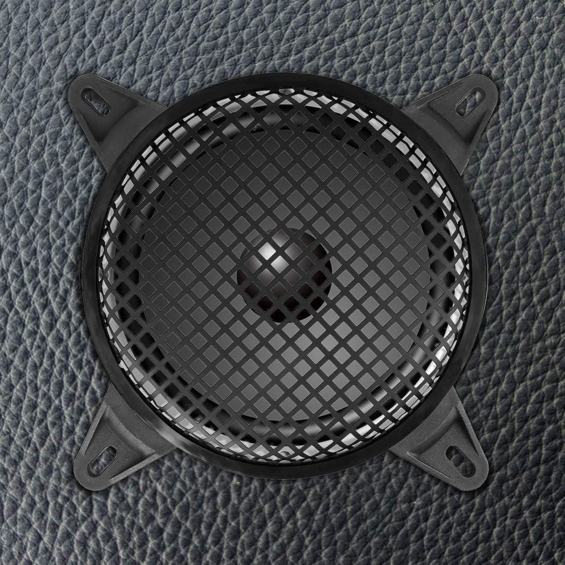 X AUTOHAUX 10 Inch Black Car Audio Speaker Cover Metal Mesh Subwoofer Grill Horn Guard