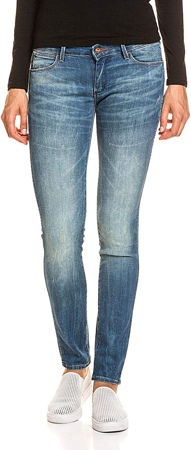 Wrangler Classic 5-Pocket Washed-out Effects Jeans Blue