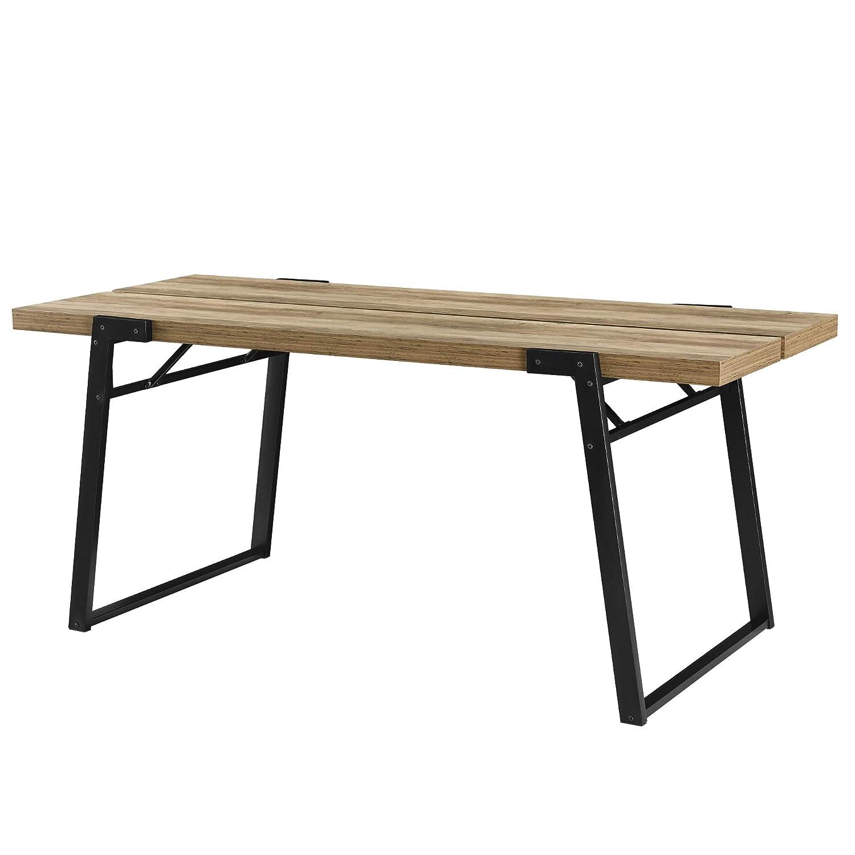 [en.casa] Esstisch Esstisch Esstisch - 180x80x77cm in Beton-Optik - Küchentisch Esszimmertisch Tisch 19cb60