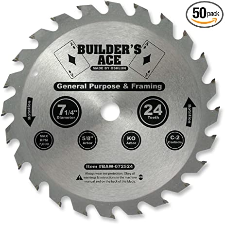 Builders ace saw blade 7 14 x 24t x 58 arbor 50pk oshlun builders ace saw blade 7 14quot x 24t x 5 keyboard keysfo Gallery